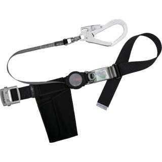 ツヨロン ワンハンドリトラ安全帯 黒 Mサイズ TB-ORL-593SV-BLK-M-BP