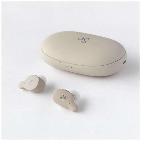 フルワイヤレスイヤホン クリーム TWS02RCREAM [リモコン・マイク対応 /ワイヤレス(左右分離) /Bluetooth]