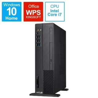 D6414SFF-I79700T デスクトップパソコン ExpertPC ブラック [モニター無し /intel Core i7 /メモリ:8GB /SSD:512GB /2019年11月モデル]