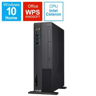 D6414SFF-0G4900T デスクトップパソコン ExpertPC ブラック [モニター無し /SSD:256GB /メモリ:4GB /2019年11月モデル]