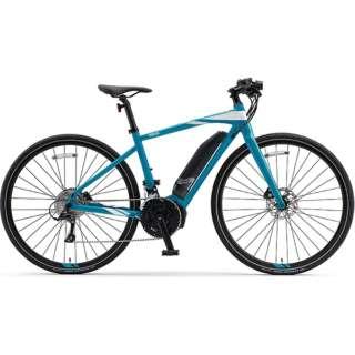 【eバイク】 700×35C型 電動アシストロードバイク YPJ-EC(Aqua Cyan/外装18段変速)【Lサイズ/2020年モデル】 【組立商品につき返品不可】