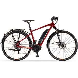 【eバイク】 700×35C型 電動アシストロードバイク YPJ-TC(Dark Metalic Red/外装18段変速)【Sサイズ/2020年モデル】 【組立商品につき返品不可】