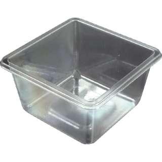 TRUSCO PET製超耐寒小型容器 70X70X35mm 透明 100枚 PETY-7070