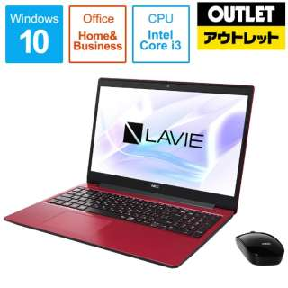 【アウトレット品】 15.6型ノートPC [Office付・Core i3・HDD 1TB・Optane 16GB・メモリ 4GB] LAVIE Note Standard(NS300/NAシリーズ)  PC-NS300NAR カームレッド 【外装不良品】