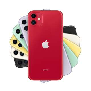 【SIMフリー】Apple iPhone 11 A13 Bionic 6.1型 ストレージ: 64GB デュアルSIM(nano-SIMとeSIM) MWLV2J/A (PRODUCT)RED