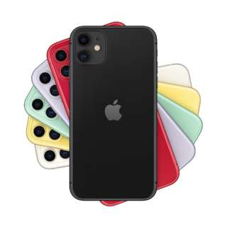 【SIMフリー】Apple iPhone 11 A13 Bionic 6.1型 ストレージ: 128GB デュアルSIM(nano-SIMとeSIM) MWM02J/A ブラック