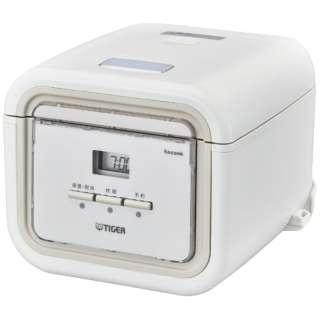 JAJ-G550-WN 炊飯器 炊きたて tacook(タクック) ナチュラルホワイト [3合 /マイコン]