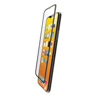 iPhone 11 Pro フルカバーガラスフィルム フレーム付 ブラック PMCA19BFLGFRBK