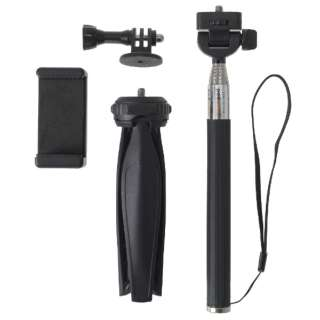 セルフィーセット(セルフィースティック、スマホ用ホルダー、アクションカメラ用ホルダー、三脚スタンド) BC-040