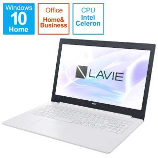 PC-NS100K2W-H6 LAVIE Note Standard(NS100KA/シリーズ) LAVIE Note Standard(NS100KA/シリーズ) カームホワイト [15.6型 /intel Celeron /HDD:500GB /メモリ:4GB /2020年春モデル]