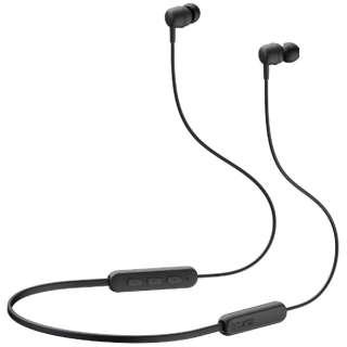 ブルートゥースイヤホン カナル型 ブラック EP-E30AB [リモコン・マイク対応 /ワイヤレス(左右コード) /Bluetooth]