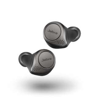 フルワイヤレスイヤホン Elite 75t Titanium Black 100-99090000-40 [リモコン・マイク対応 /ワイヤレス(左右分離) /Bluetooth]