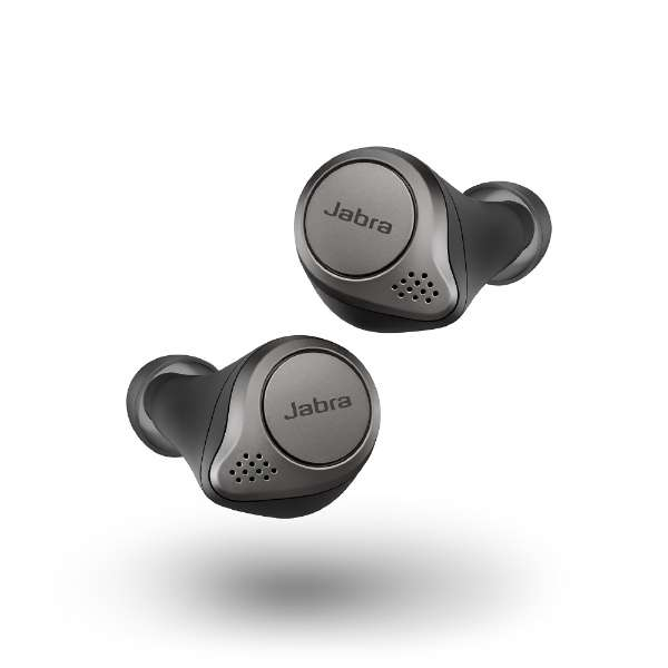 フルワイヤレスイヤホン Elite 75t Titanium Black 100-99090000-40 [リモコン・マイク対応 /ワイヤレス(左右分離) /Bluetooth /ノイズキャンセリング対応]