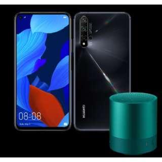 nova 5T ブラック「NOVA5TBLACK」6.26型 メモリ/ストレージ:8GB/128GB nanoSIM x2 DSDV対応 ドコモ/ソフトバンク対応 SIMフリースマートフォン + Mini Speaker Green