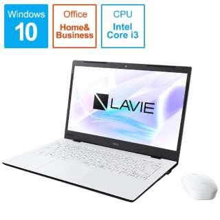PC-HM350PAW ノートパソコン LAVIE Home Mobile(HM350シリーズ) パールホワイト [14.0型 /intel Core i3 /SSD:256GB /メモリ:4GB /2019年秋冬モデル]