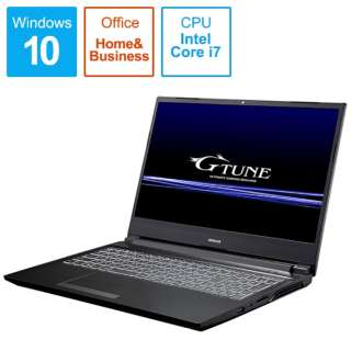 GTP5A191101 ゲーミングノートパソコン [15.6型 /intel Core i7 /HDD:1TB /SSD:256GB /メモリ:16GB]