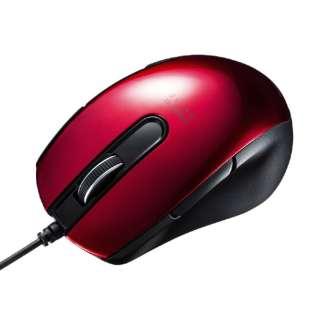 MA-BL172R マウス レッド [BlueLED /5ボタン /USB /有線]