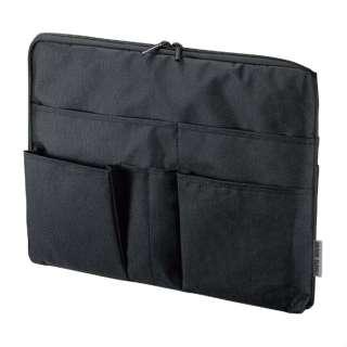 タブレットPC対応[~12インチ] 整理収納バッグインバッグ 横型 IN-GHBB2BK ブラック