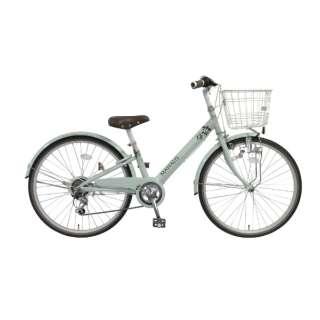 24型 子供用自転車 マハロ ジュニア(グリーン/外装6段変速) 【組立商品につき返品不可】