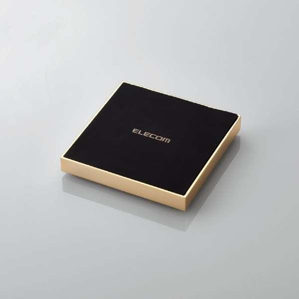 Qi規格対応ワイヤレス充電器 急速 卓上 メタル筐体 ゴールド W-QA11GD