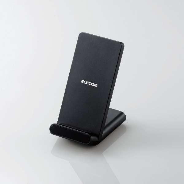 Qi規格対応ワイヤレス充電器 スタンドQi 5W 2枚コイル ブラック W-QS05BK