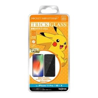iPhone 11 Pro/XS/X 『ポケットモンスター』/トリックガラスフィルム 10H/ピカチュウ IN-PP23FG/PK1 ピカチュウ