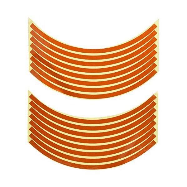 901814 12インチ用リムステッカー オレンジ