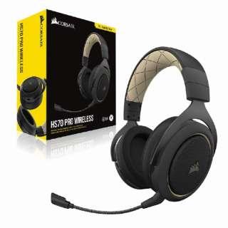 CA-9011210-AP ゲーミングヘッドセット HS70 PRO Wireless cream クリーム [ワイヤレス(USB) /両耳 /ヘッドバンドタイプ]