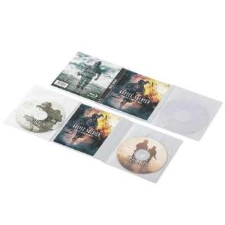 20枚収納 Blu-ray/DVD/CD用スリム収納ソフトケース(2枚x10) ホワイト CCD-DP2B10WH