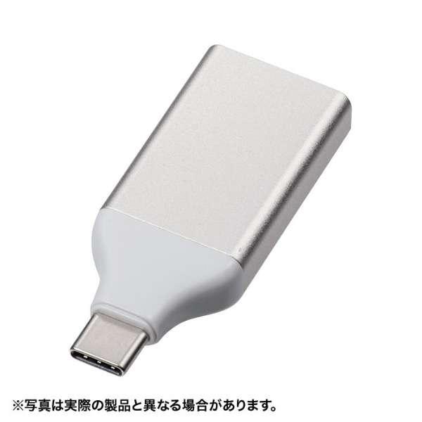 [USB-C オス→メス HDMI] 変換アダプタ DisplayPort Altモード対応 AD-ALCS-HD シルバー