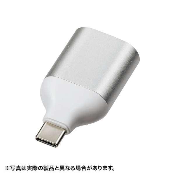 [USB-C オス→メス VGA] 変換アダプタ AD-ALCS-V シルバー