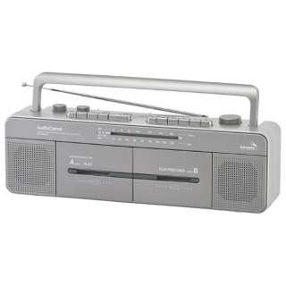 RCS-W960R ステレオダブルカセットレコーダー AudioComm [ワイドFM対応]