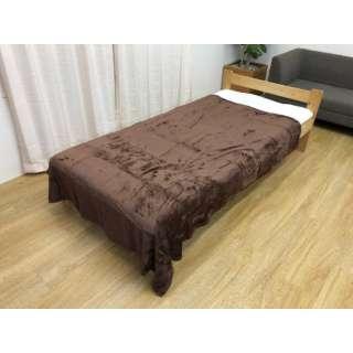 フランネル毛布(シングルサイズ/140×190cm/ブラウン)