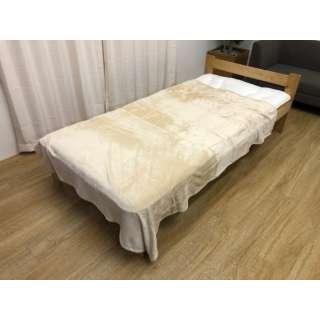 フランネル毛布(シングルサイズ/140×190cm/ベージュ)