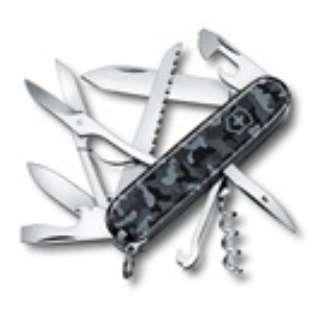マルチツール ハントマン ネイビーカモフラージュ【15機能】(ラージオフィサー 91mm/カモフラージュ) 1.3713.942