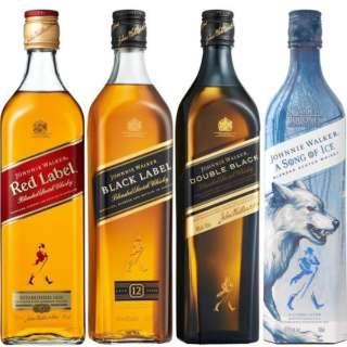 ジョニーウォーカー 4種飲み比べセット (700ml/4本)【ウイスキー】