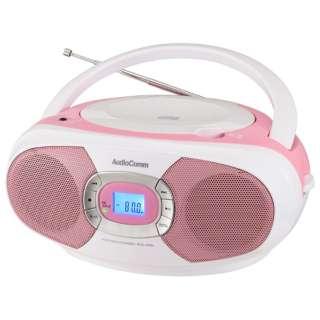 RCR-220N-P ステレオCDラジオ AudioComm ピンク [ワイドFM対応]