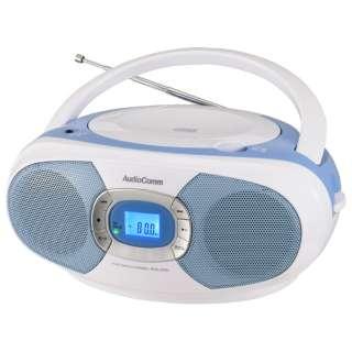 CDラジオ RCR-220N-A ブルー [ワイドFM対応]