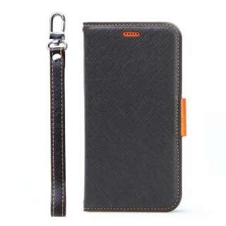 Corallo コラーロ NU 手帳型ケース for iPhone11 (Black+Orange) CR_IKMCSPLNU_BO ブラック×オレンジ