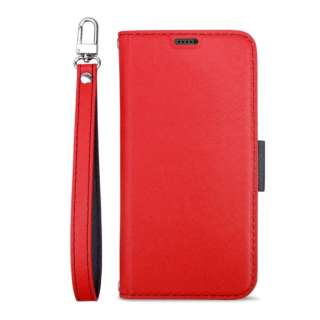Corallo コラーロ NU 手帳型ケース for iPhone11 (Red+Black) CR_IKMCSPLNU_RD レッド×ブラック