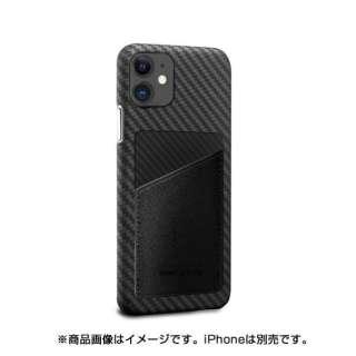 MonCarbon HOVERSKIN サフィアーノ iPhone11 フルカーボンケース HSXI02BK ステルスブラック