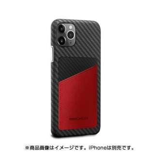 MonCarbon HOVERSKIN サフィアーノ iPhone11ProMax フルカーボンケース HSXI03RD レッド