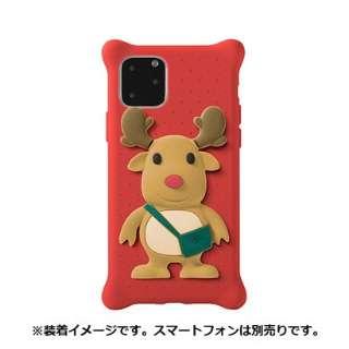 Bone キャラクター付き iPhone11Pro用ケース PhoneBubbleFigure トナカイ PH19081-DEE レッド