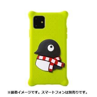 Bone キャラクター付き iPhone11用ケース PhoneBubbleFigure ペンギン PH19082-PEN グリーン