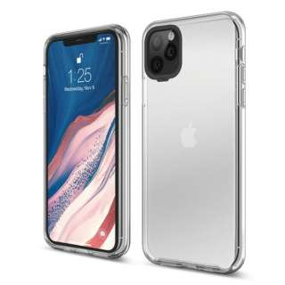 elago エラゴ HYBRID CASE for iPhone11 Pro Max (Crystal Clear) EL_IKLCSPTHB_CL クリスタルクリア