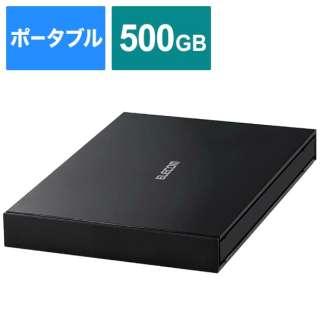 ESD-EJ0500GBK 外付けSSD ブラック [ポータブル型 /500GB]