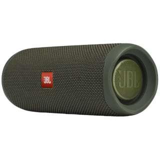 ブルートゥース スピーカー グリーン JBLFLIP5GREN [Bluetooth対応]