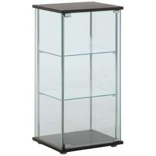 ガラスコレクションケース 3段 ブラウン(高さ90cm)