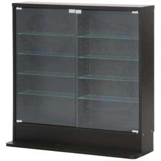 ガラスコレクションケース 5段 ロータイプ 浅型 ブラック(高さ90cm)