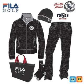 メンズ ゴルフウェア FILA GOLF 上下セット(LLサイズ/ブラック)